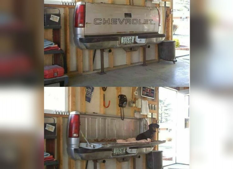 16 repurposed trucks and cars with pictures gorilla fabrication truck bed table sciox Images